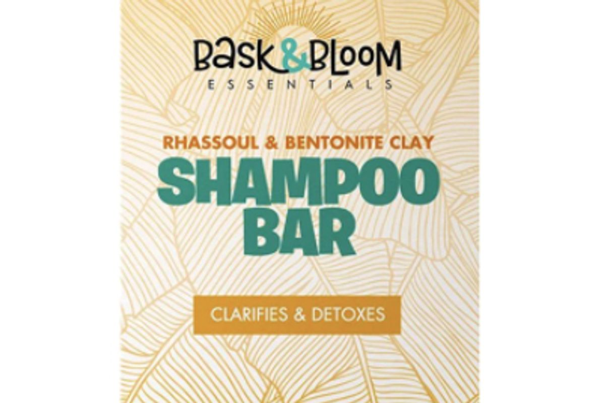 bask and bloom essentials rhassoul and bentonite clay shampoo bar