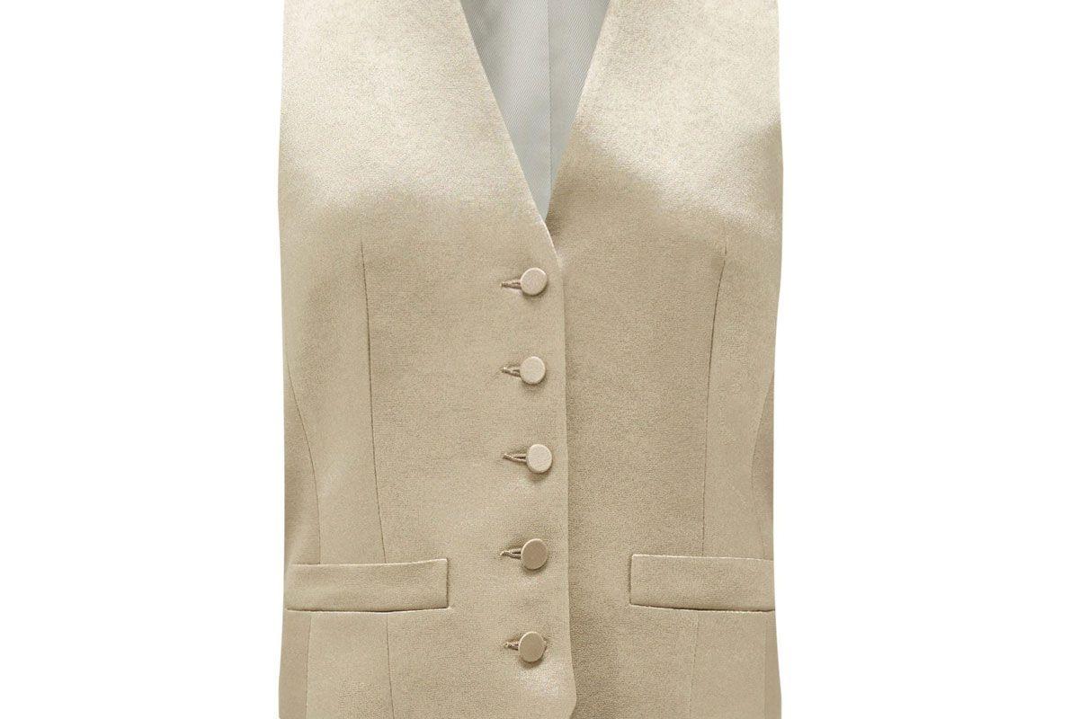 pallas paris gossip single breasted hammered satin waistcoat