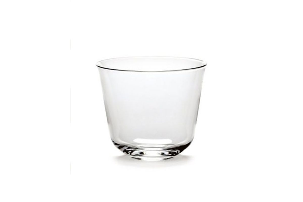 ann demeulemeester set of four crystal tumblers