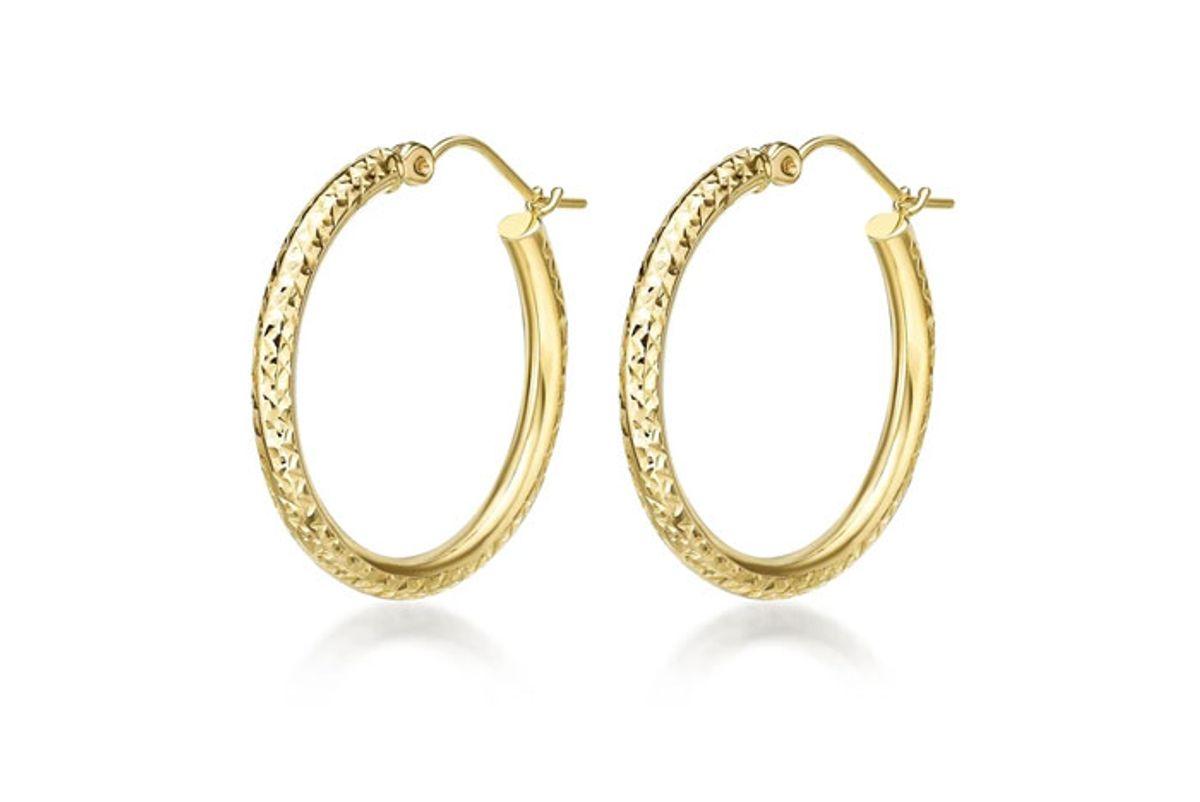 alkeme diamond cut hoop earrings