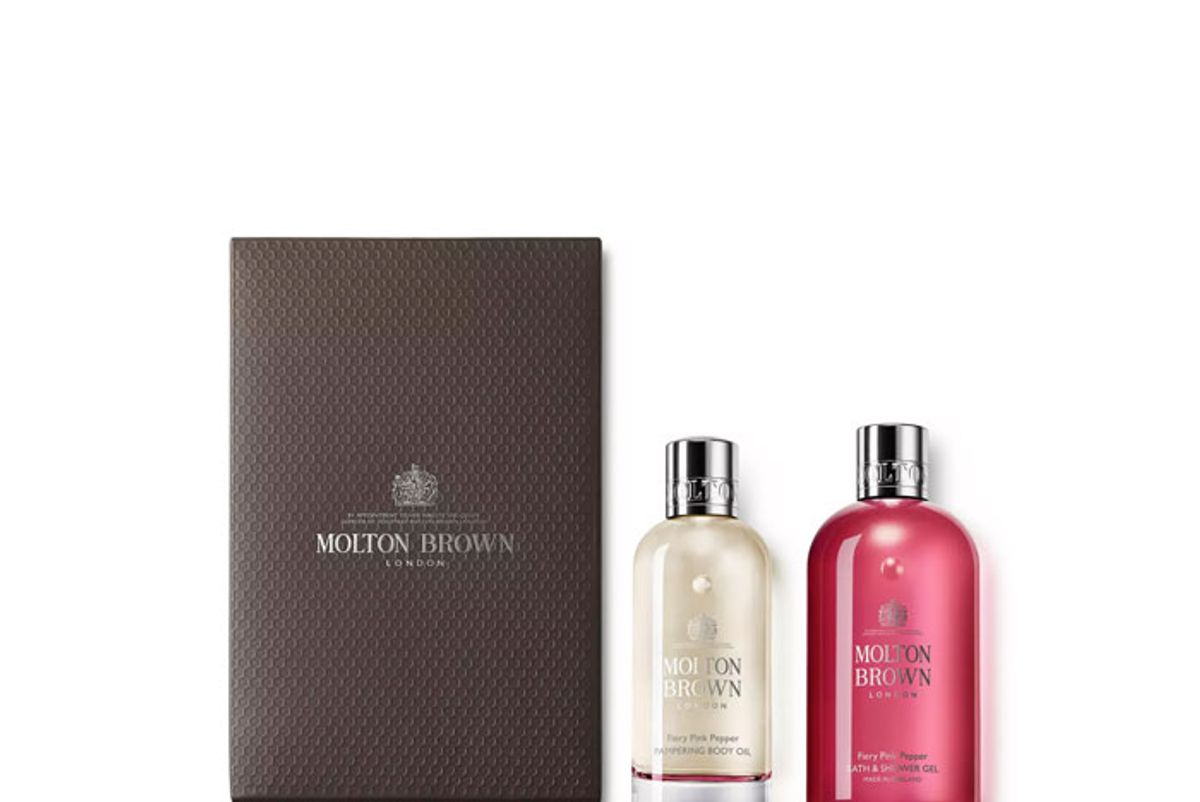 molton brown fiery pink pepper body luxuries set