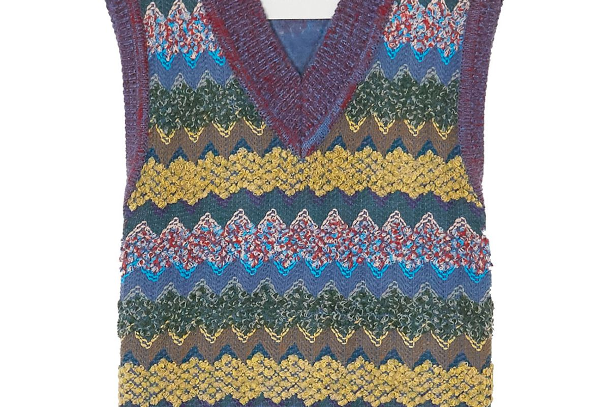 andersson bell crochet knit vest
