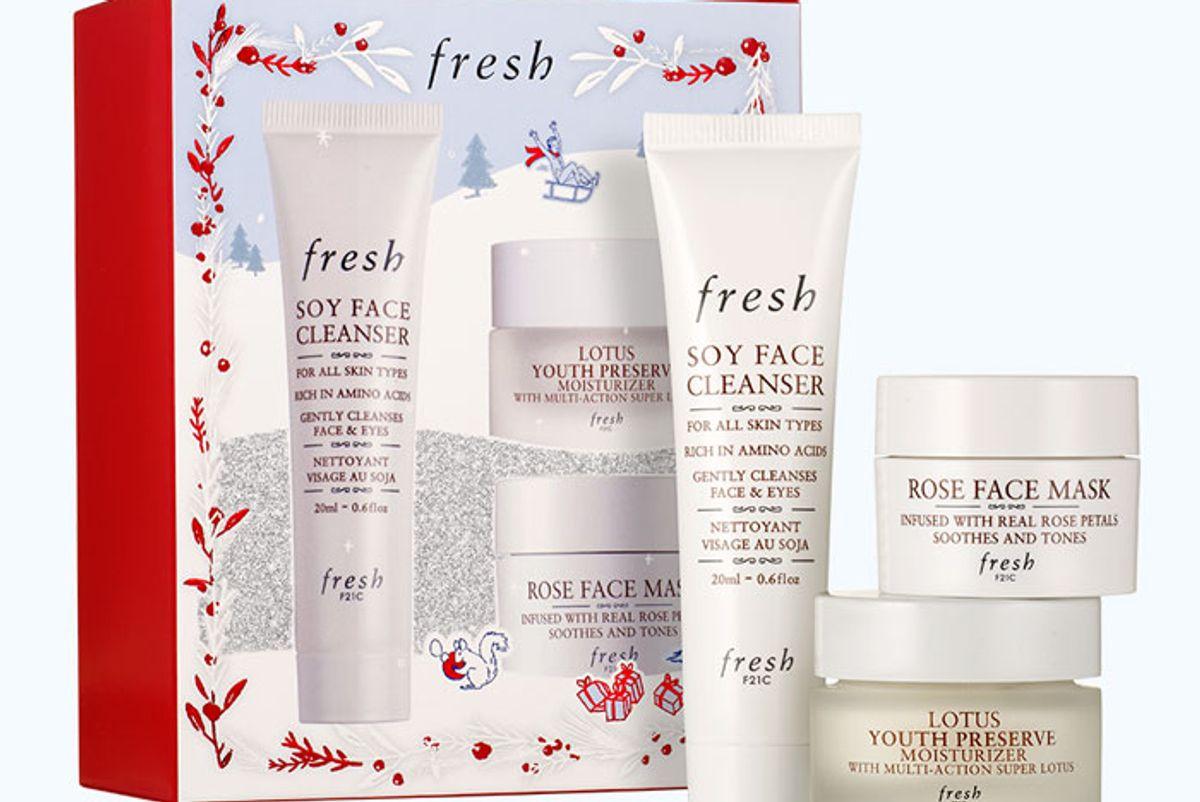 fresh cleanse mask moisturize set