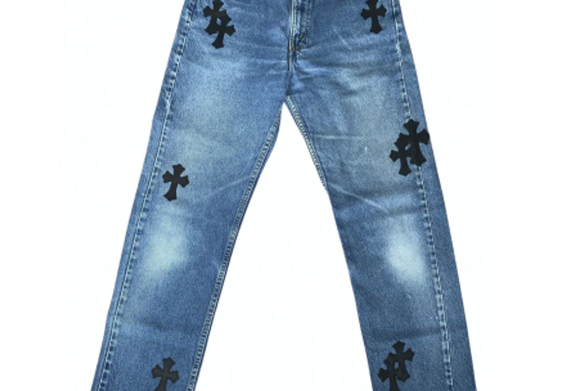 chrome hearts straight jeans