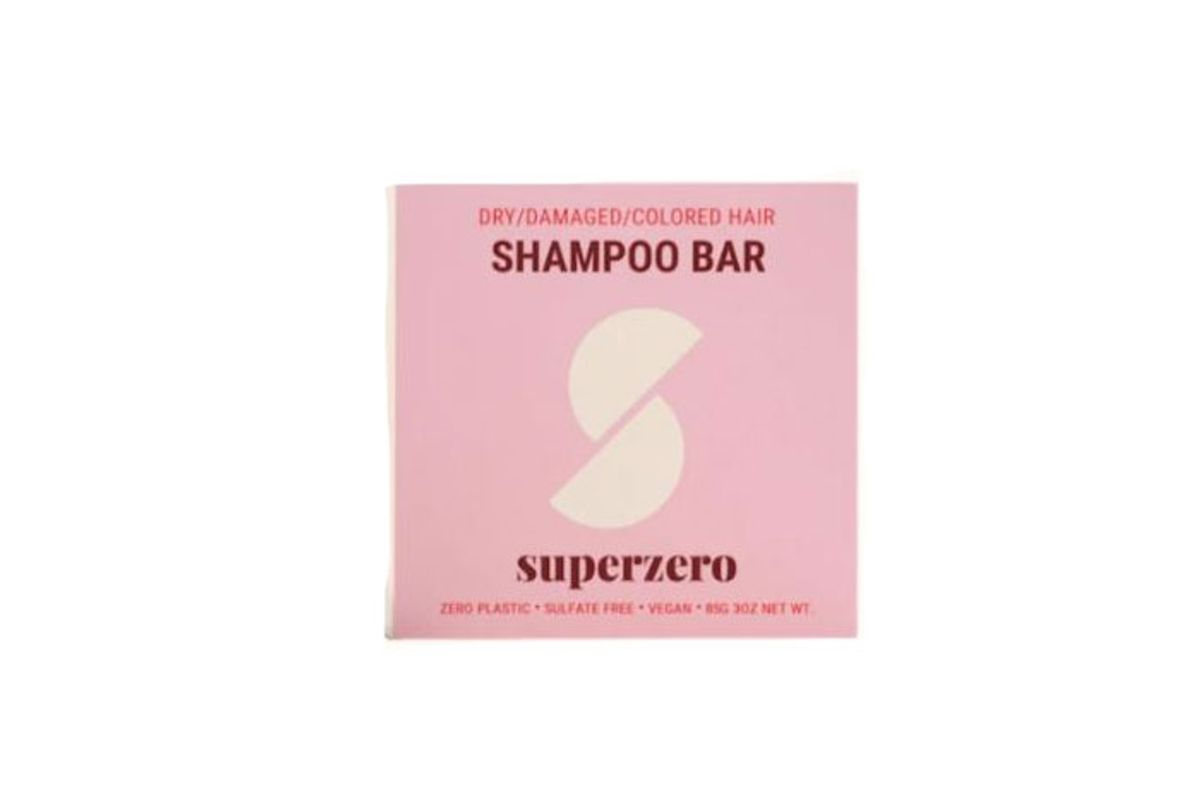 superzero shampoo bar for dry color treated and frizzy hair