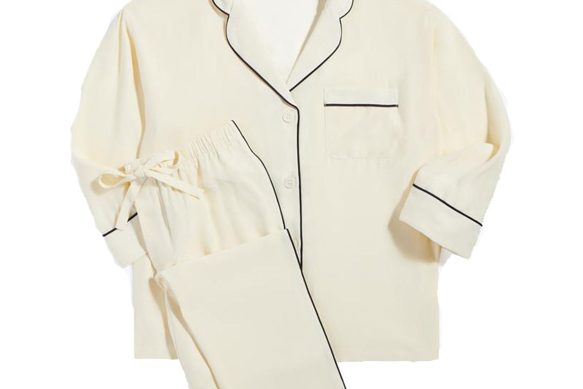 sleepy jones washable silk marina pajama set