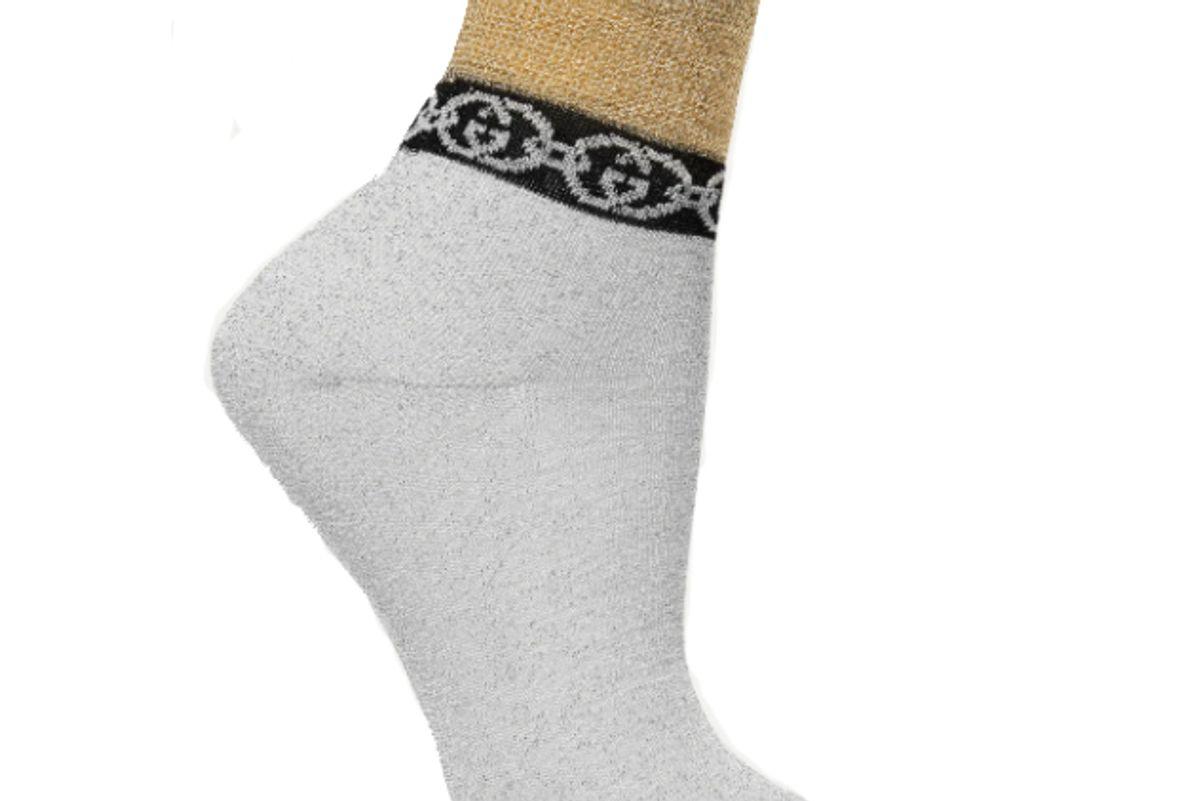 gucci metallic jacquard knit socks