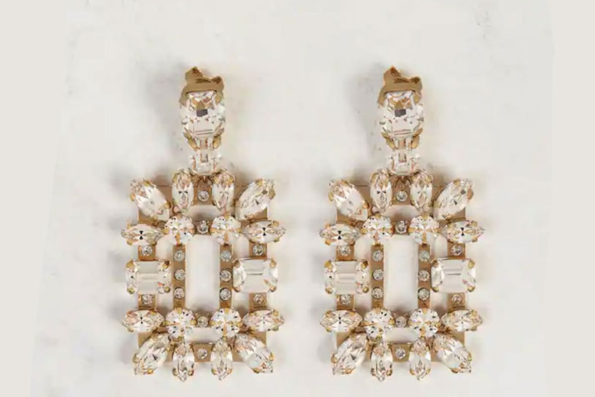 roger vivier broche mini earrings