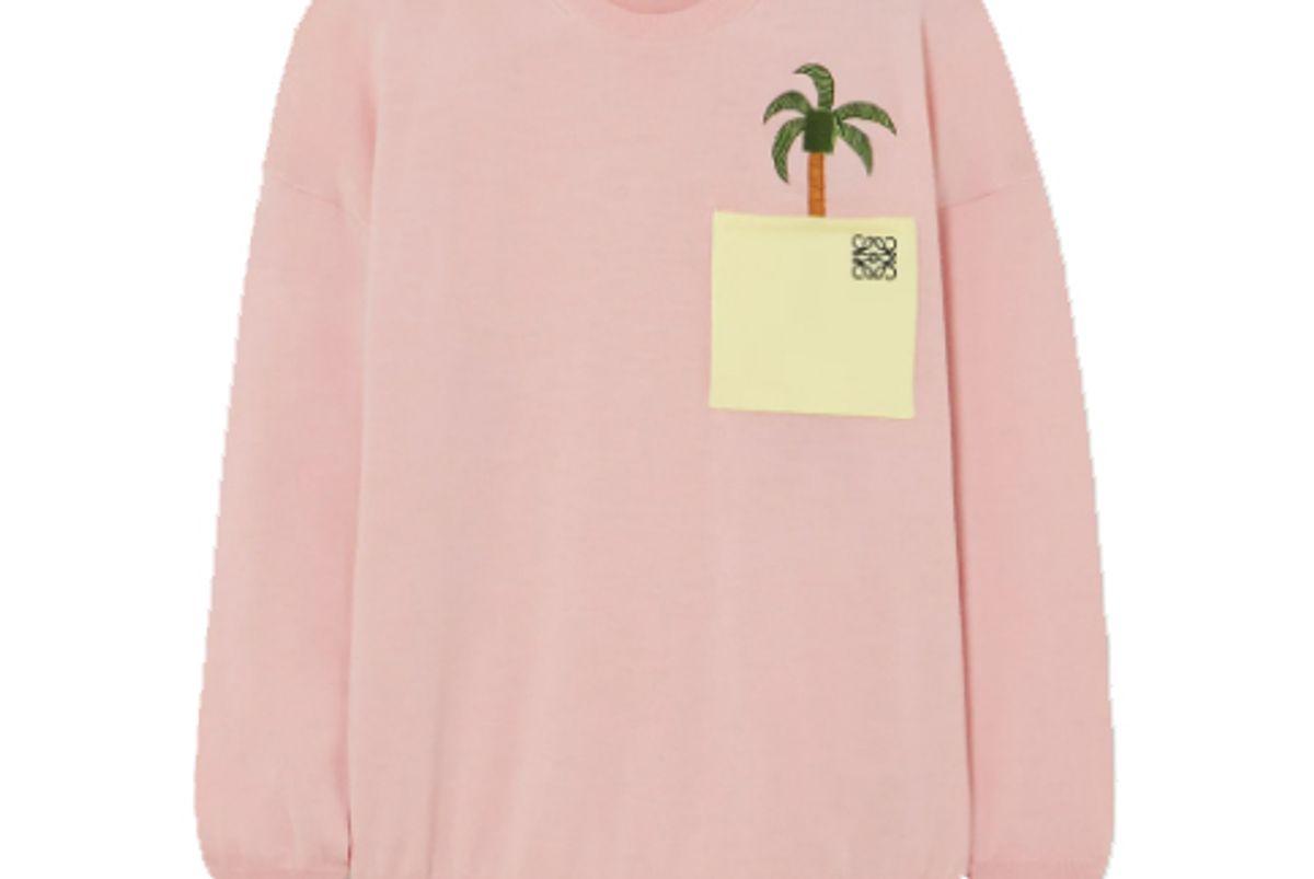 loewe x ken price la palme embroidered wool blend sweater