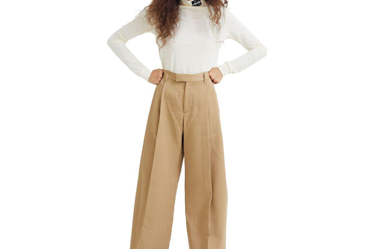 samuel gui yang derek trouser technical twill beige