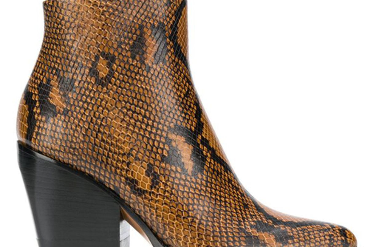 chole brown and black rylee 80 snakeskin effect leather boots shop