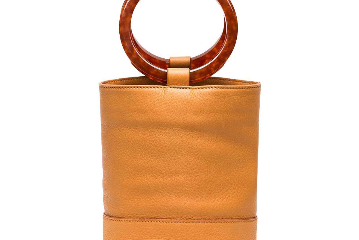 simon miller sand bonsai 20 leather bucket bag