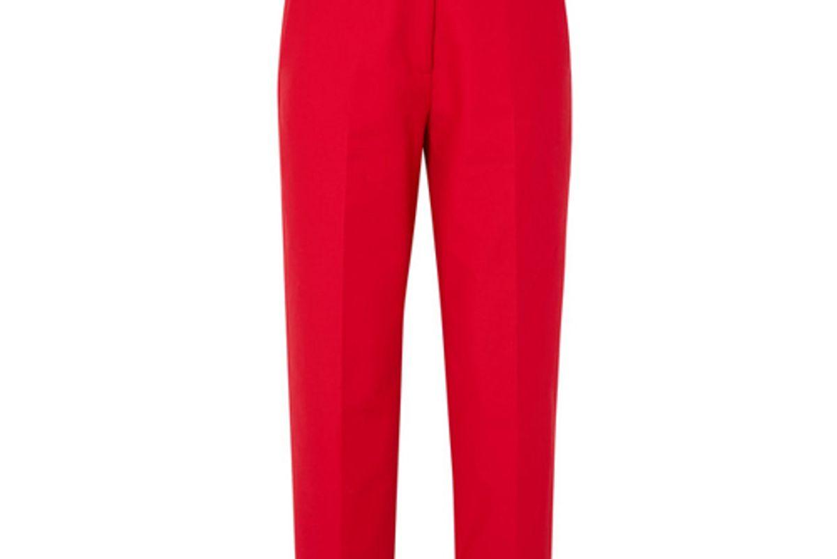 khaite catherine cotton twill straight leg pants