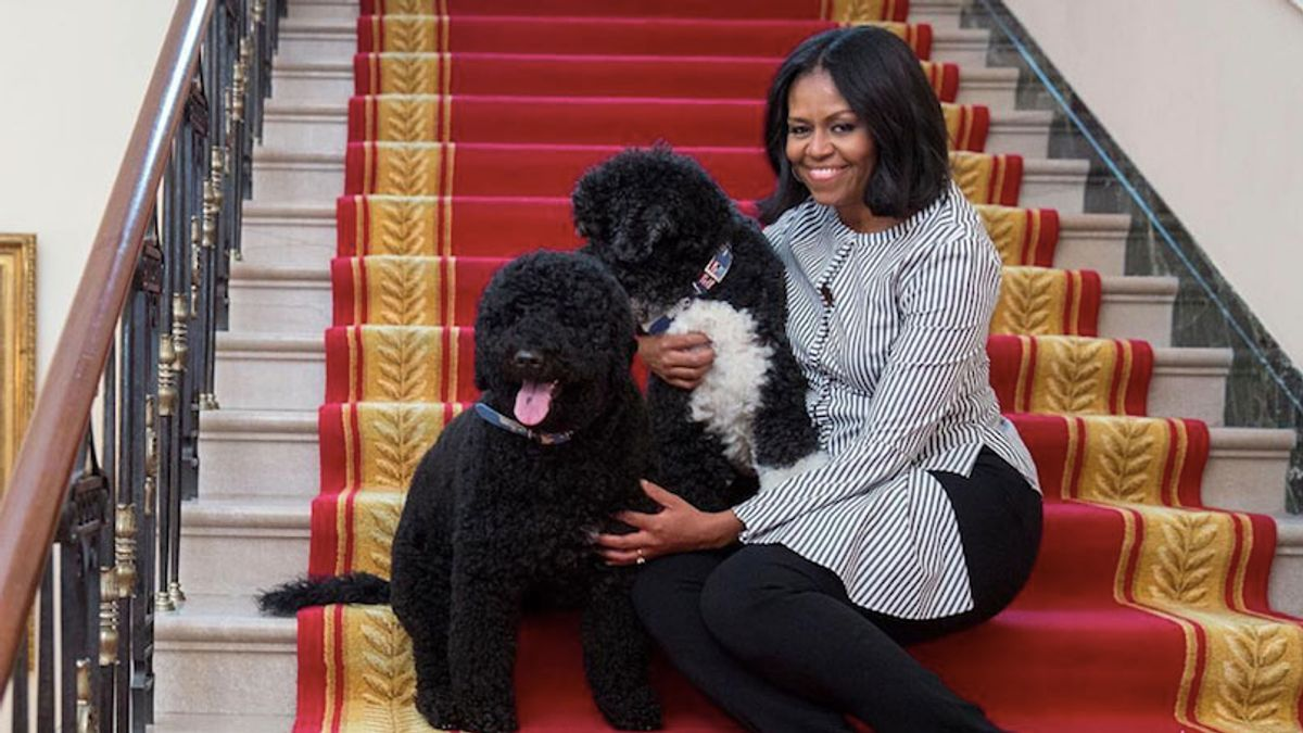 Here's What Michelle Obama Wore For Her Last Walk Through the White House