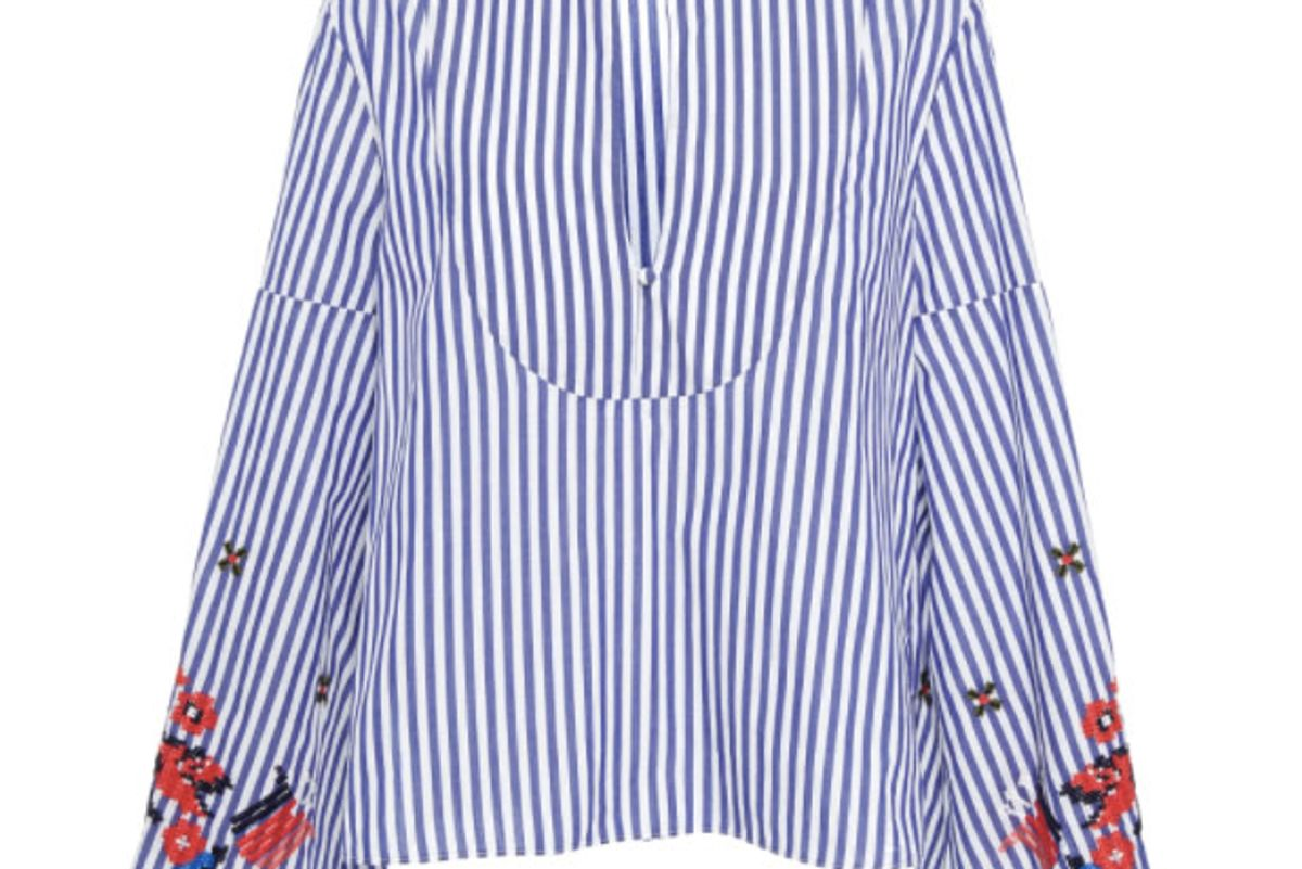 Embroidered Menswear Stripe Klara Top