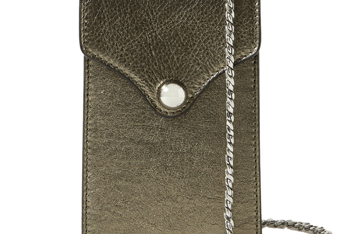 ratio et motus disco mini metallic textured leather shoulder bag