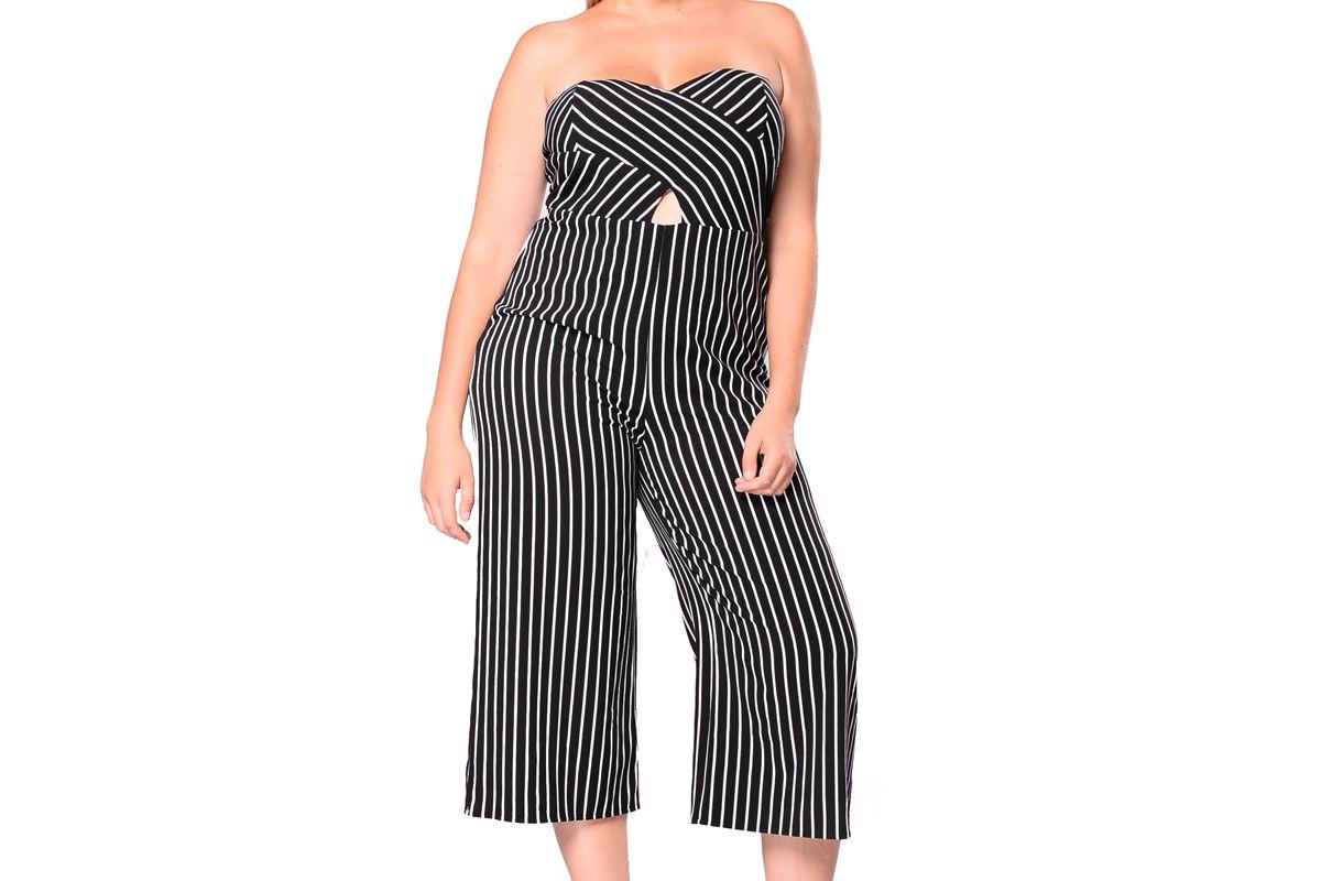 Sofie Striped Culotte Jumpsuit