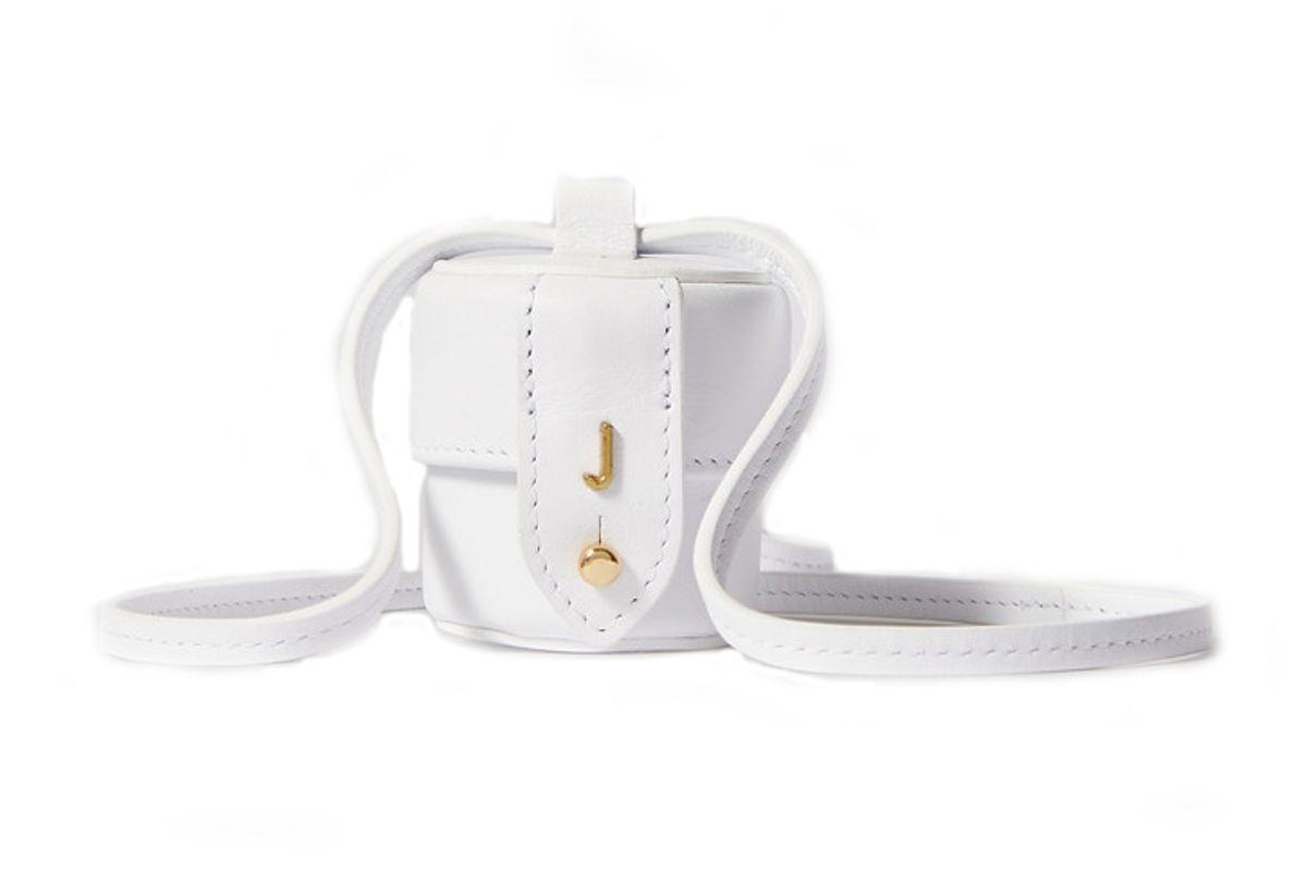 jacquemus le micro vanity mini leather shoulder bag