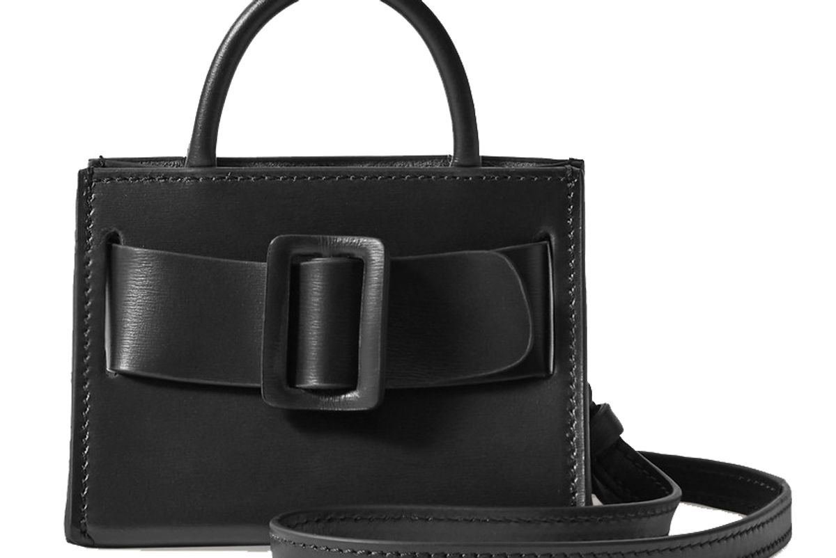 boyy bobby charm buckled leather shoulder bag