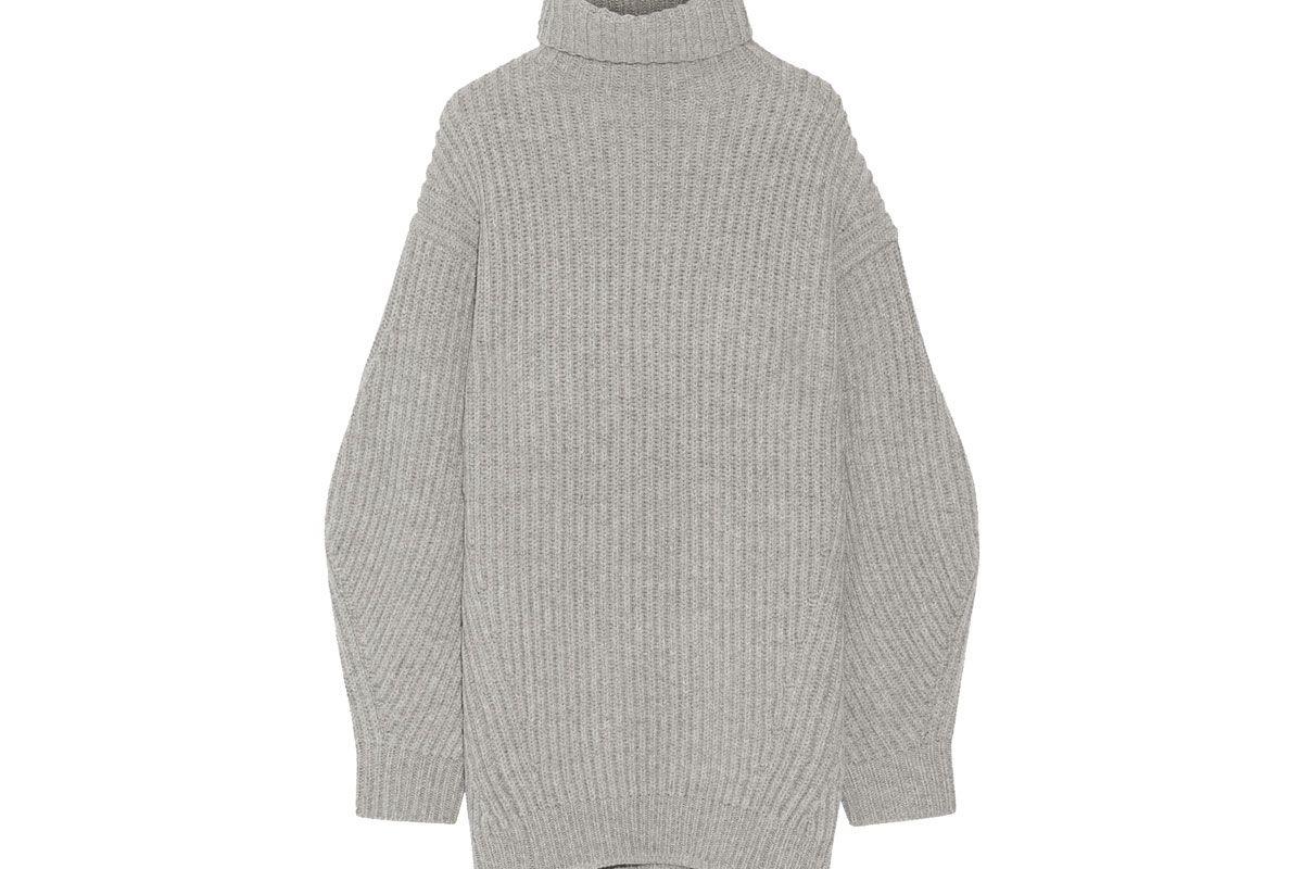 Isa Ribbed Wool Turtleneck Sweater