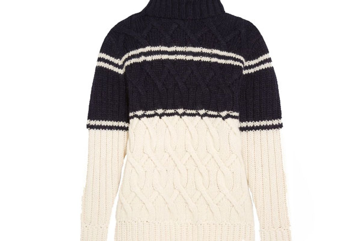 Edna Cable-Knit Turtleneck Sweater