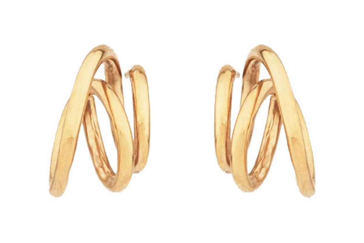 completedworks flow gold vermeil earrings