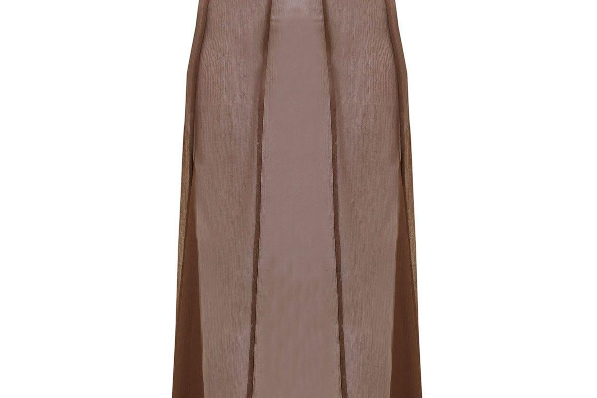 albus lumen aziza raw hem silk skirt