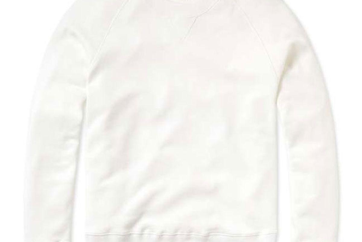 entireworld loop back sweatshirt white