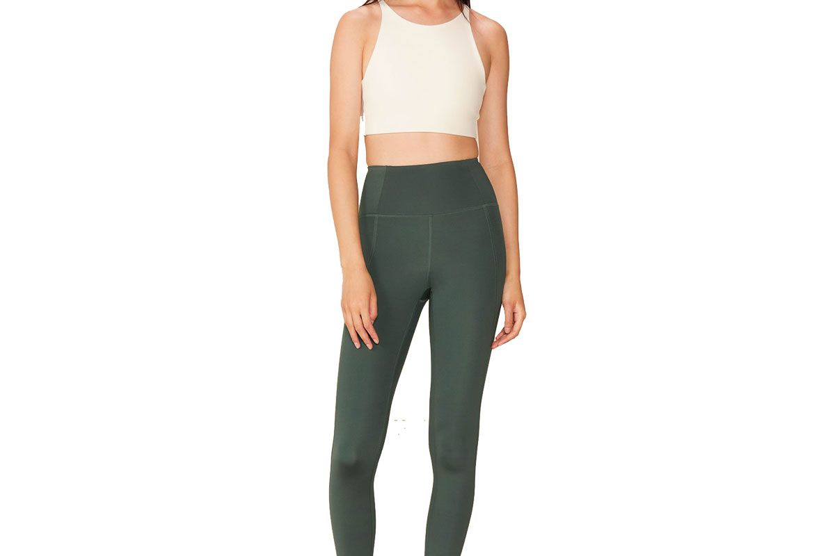 girlfriend collective moss compressive high rise legging