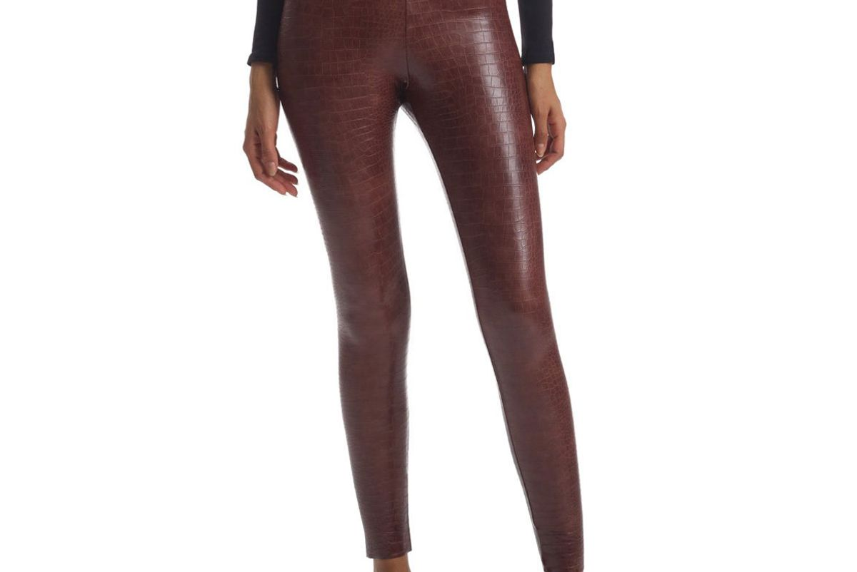 commando faux leather animal legging with perfect control