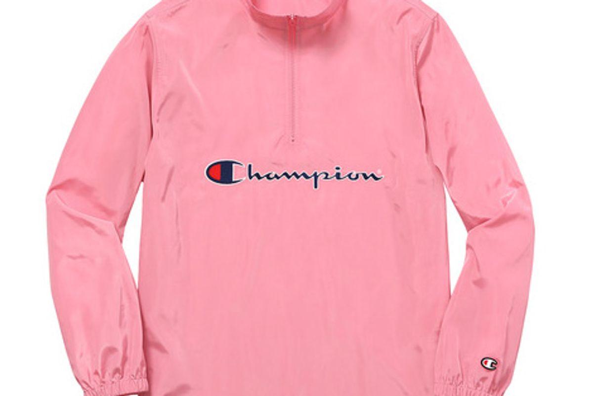 Champion Half Zip Pullover in Pink
