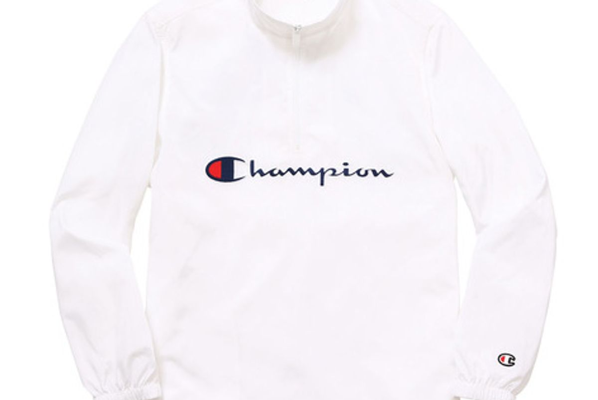 Champion Half Zip Pullover in White