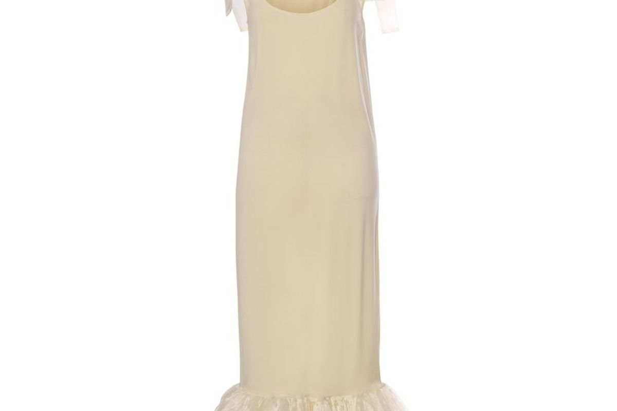 fe noel le creme silk slip dress