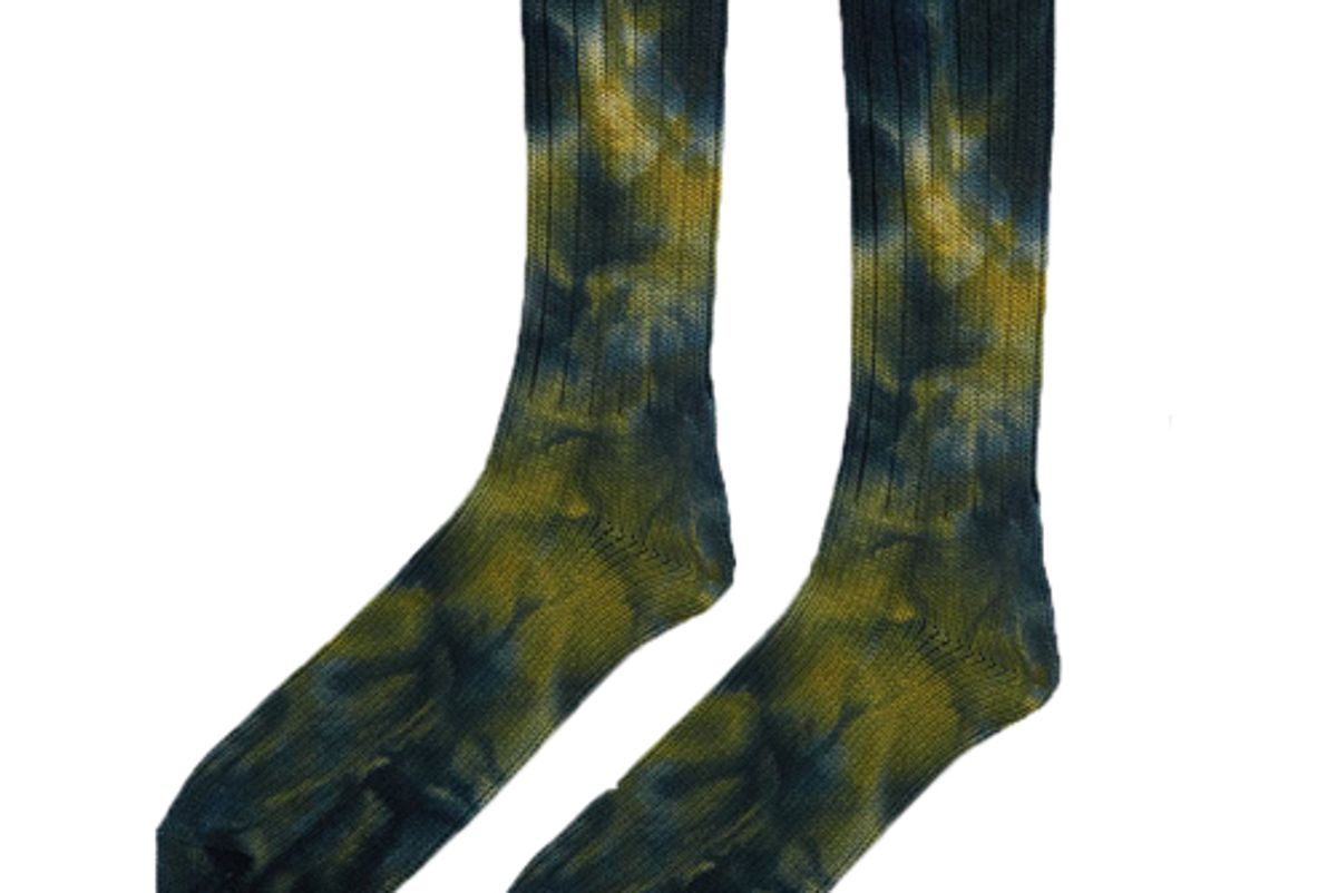 anonymous ism uneven dye sock in yellow