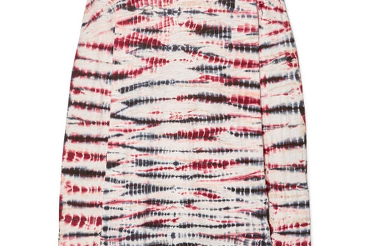 proenza schouler tie dyed cotton jersey top
