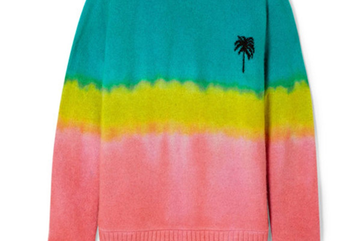 the elder statesman oversized tie dyed cashmere sweater