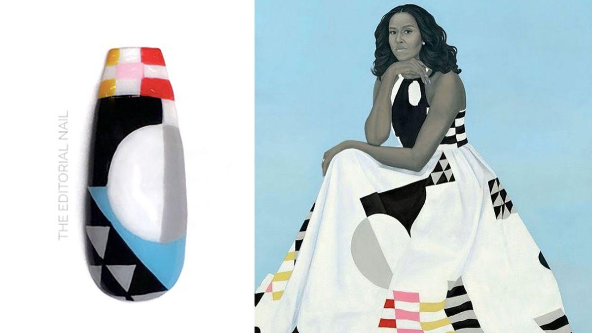 black history month inspired nail art