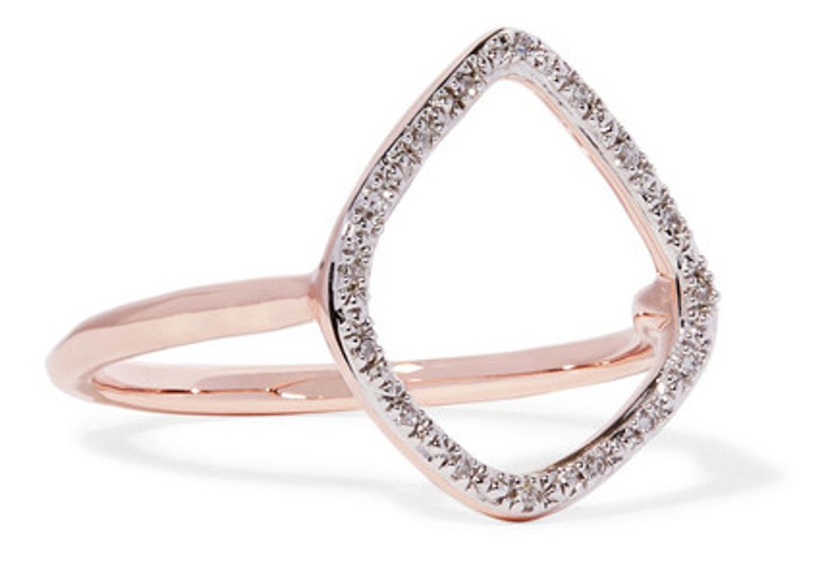 Riva Rose Gold Vermeil Diamond Ring