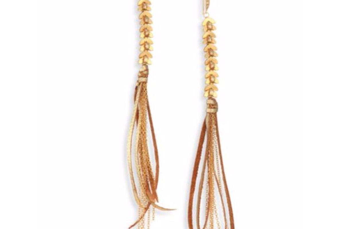 Tassel Metallic Statement Earrings
