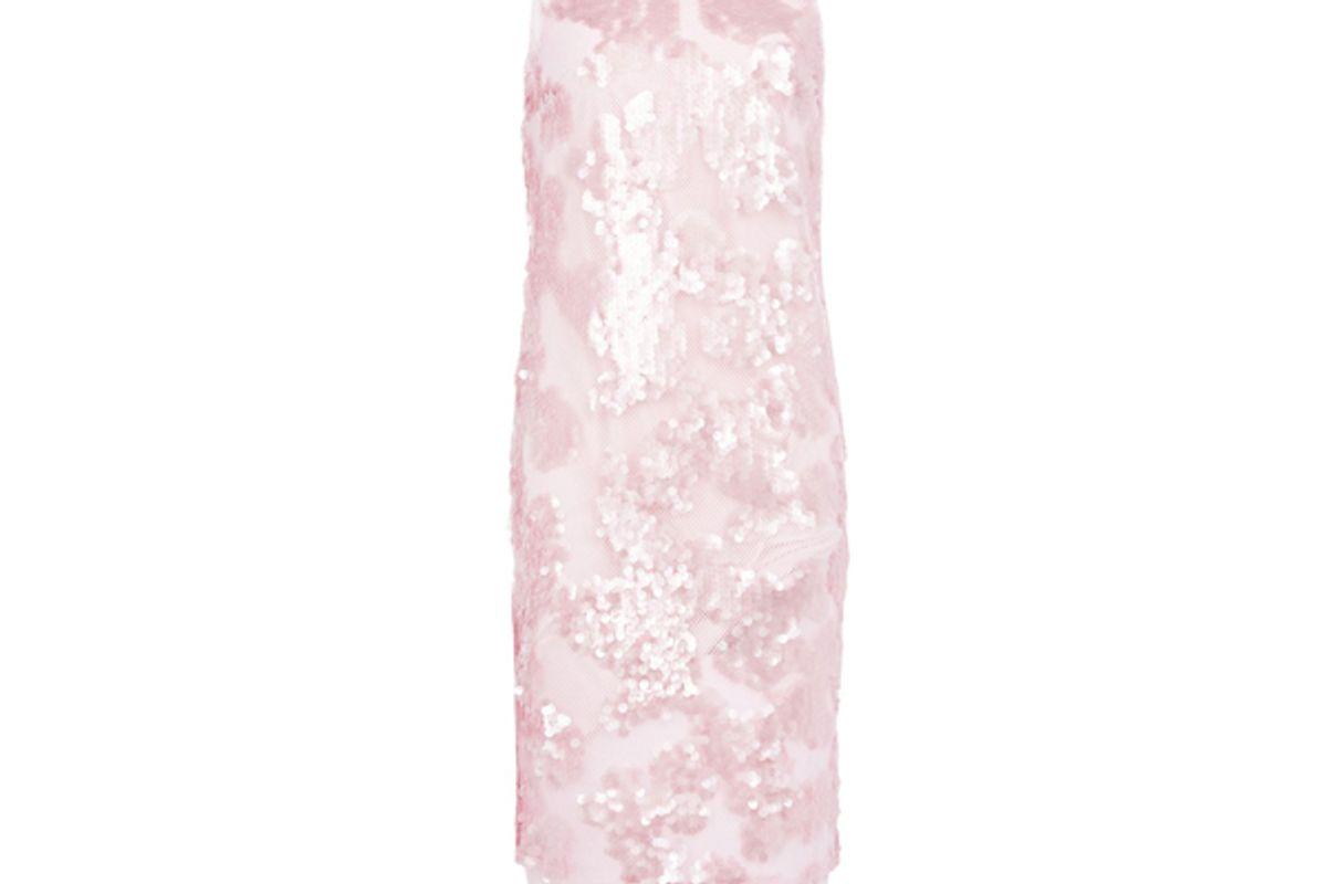 Sequin Airtex Midi Dress