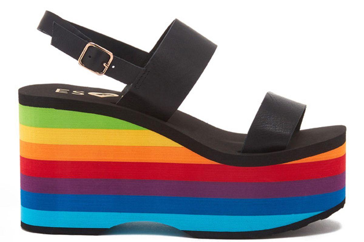 Rainbow Platform Sandal