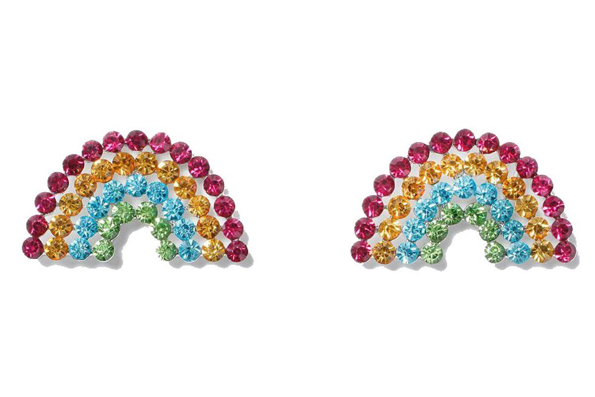 Rhinestone Rainbow Stud Earrings