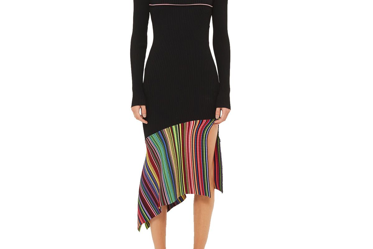 Hacienda Knitted Asymmetric Hem Dress
