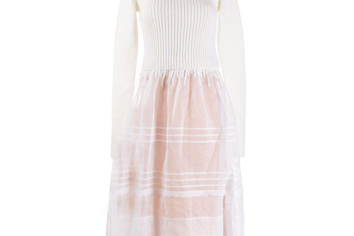 loewe knitted sheer dress