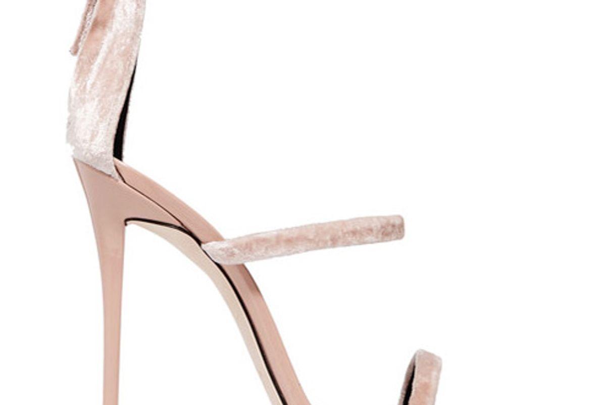 Harmony velvet and patent-leather sandals