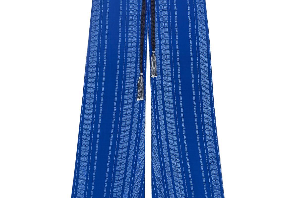 Alcestes Signature Textured Silk Trousers