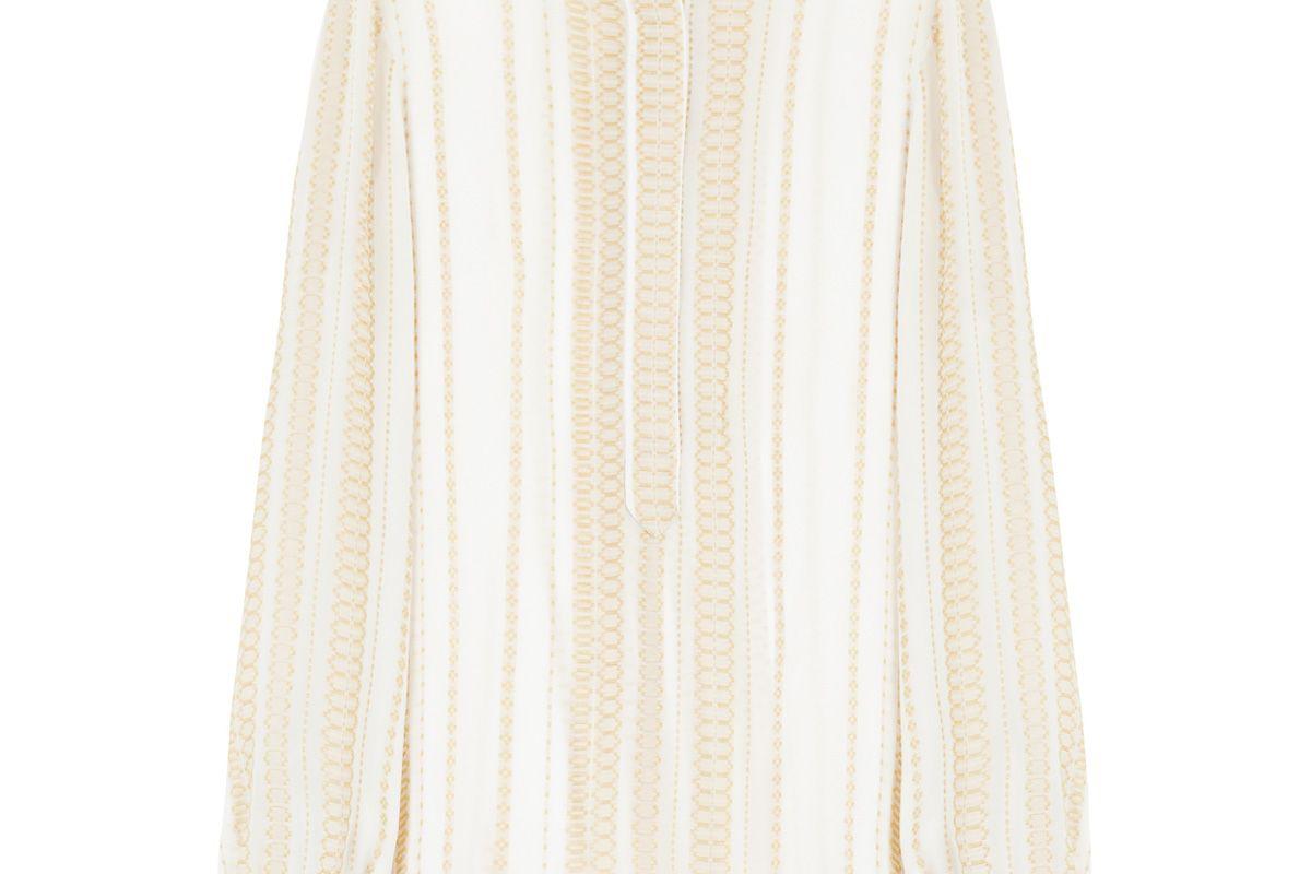 Hera Signature Textured Silk Blouse
