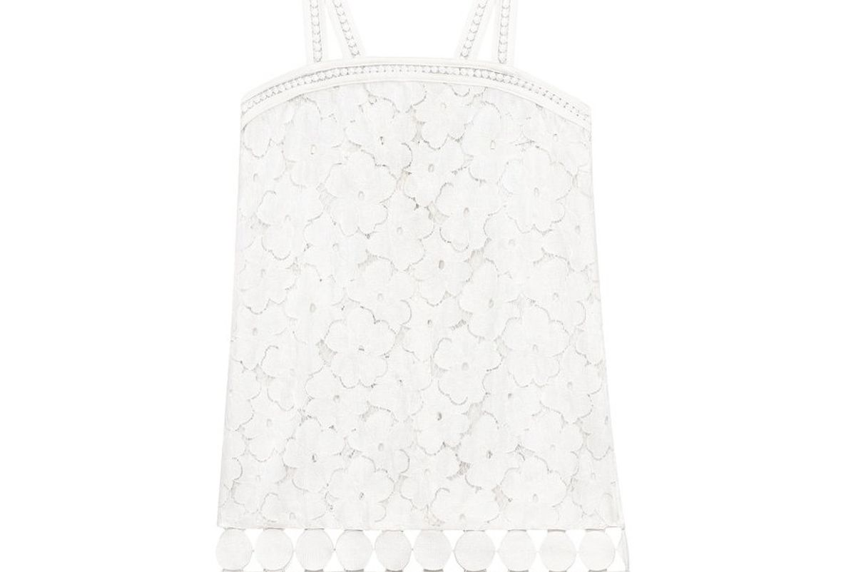 Adi Circle Trim Lace Dress