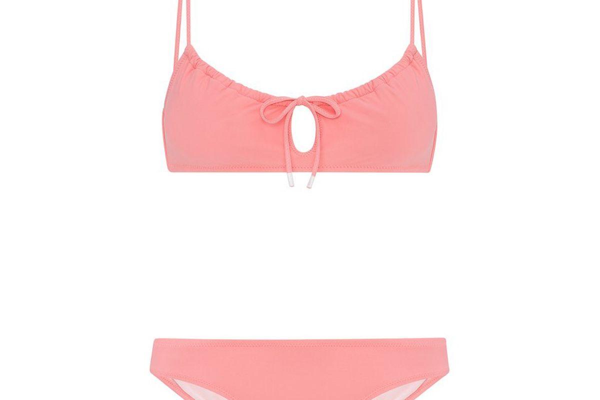 Gia Keyhole Bikini Set in Pink