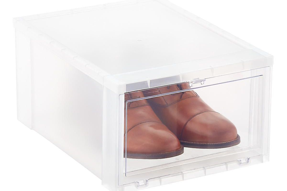 the container store large drop-front shoe box case